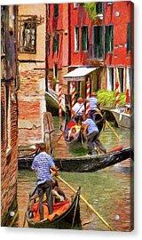 Venetian Red Acrylic Print by Jeff Kolker