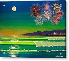 Venice Beach Celebration  Acrylic Print by Frank Strasser