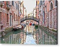 Venice Bridge Crossing 2 Acrylic Print by Heiko Koehrer-Wagner