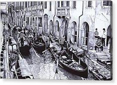 Venice Canal Acrylic Print by Andrey Poletaev