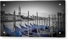 Venice Grand Canal And St Mark's Campanile Panoramic View Acrylic Print by Melanie Viola