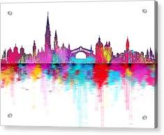 Venice Skyline  Italy Acrylic Print by Prar Kulasekara