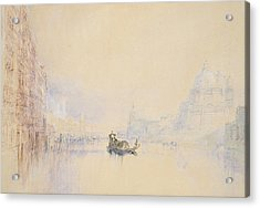 Venice  The Grand Canal Acrylic Print by Joseph Mallord William Turner