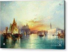 Venice Acrylic Print by Thomas Moran