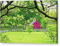 Verdant Spring In New Jersey Acrylic Print by George Oze