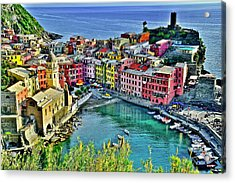 Vernazza Alight Acrylic Print by Frozen in Time Fine Art Photography