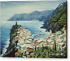 Vernazza Cinque Terre Italy Acrylic Print by Marilyn Dunlap