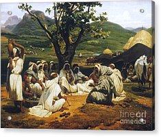 Vernet: Arab Tale-teller Acrylic Print by Granger