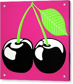 Very Cherry Acrylic Print by Oliver Johnston