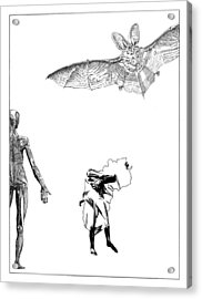 Vesalius Bat Thing Acrylic Print by Stan  Magnan