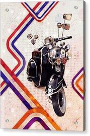 Vespa Mod Scooter Acrylic Print by Michael Tompsett