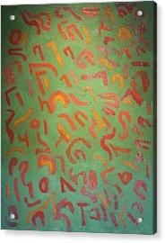 Green No. 119 Oil On Canvas 2010 22 X 28 Acrylic Print by Radoslaw Zipper