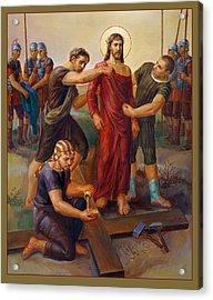 Via Dolorosa - Disrobing Of Christ - 10 Acrylic Print by Svitozar Nenyuk