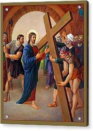 Via Dolorosa - Jesus Takes Up His Cross - 2 Acrylic Print by Svitozar Nenyuk