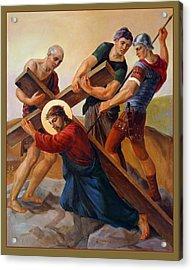 Via Dolorosa - Stations Of The Cross - 3 Acrylic Print by Svitozar Nenyuk