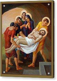Via Dolorosa - The Way Of The Cross - 14 Acrylic Print by Svitozar Nenyuk