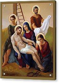 Via Dolorosa - Way Of The Cross - 13 Acrylic Print by Svitozar Nenyuk