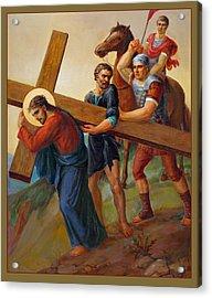 Via Dolorosa - Way Of The Cross - 5 Acrylic Print by Svitozar Nenyuk