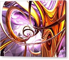 Vicious Web Abstract Acrylic Print by Alexander Butler