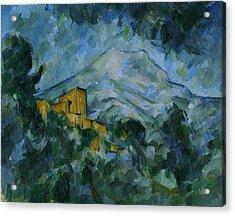 Victoire And Chateau Noir Acrylic Print by Paul Cezanne