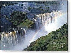 Victoria Falls Rainbow Acrylic Print by Sandra Bronstein
