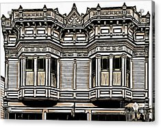 Victorian Architecture Details Acrylic Print by Edward Fielding