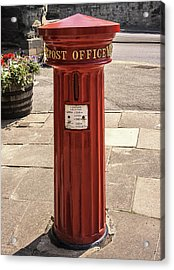 Victorian Red Postbox Acrylic Print by Georgia Fowler