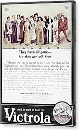 Victrola Advertisement Acrylic Print by Granger
