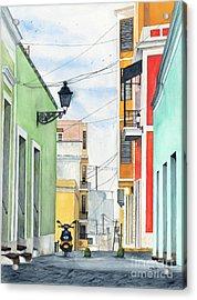 Viejo San Juan Acrylic Print by Tom Dorsz