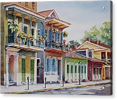 Vieux Carre Acrylic Print by Sue Zimmermann
