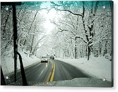 View From Inside A Car, Driving Acrylic Print by Tim Laman