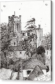 View From St Catherines School Ventnor Acrylic Print by Vincent Alexander Booth