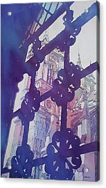 View From The Cloister Acrylic Print by Jenny Armitage