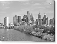 View From The New S.st. Bridge Acrylic Print by Brynn Ditsche