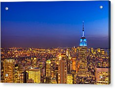 View From The Top - Nyc Skyline Acrylic Print by Mark E Tisdale