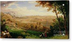 View Of Bradford Acrylic Print by William Cowen
