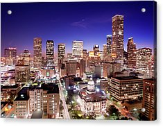 View Of Cityscape Acrylic Print by jld3 Photography