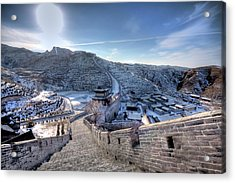 View Of Great Wall Acrylic Print by Photograph by Sunny Ip.