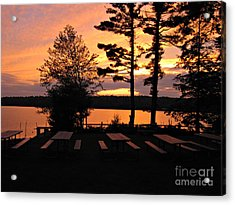 View Of Lake Naomi Acrylic Print by Addie Hocynec