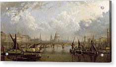 View Of London  Acrylic Print by John MacVicar Anderson