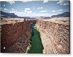 View Of Marble Canyon From The Navajo Bridge Acrylic Print by Ryan Kelly