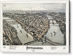 View Of Pittsburgh, 1902 Acrylic Print by Granger