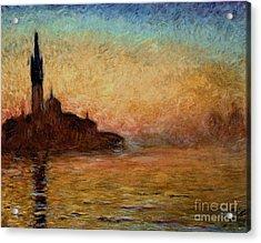View Of San Giorgio Maggiore Acrylic Print by Claude Monet