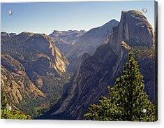 View Of Tenaya Canyon Acrylic Print by Coyright Roy Prasad
