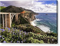 View Of The Bixby Creek Bridge Big Sur California Acrylic Print by George Oze