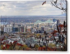 View Of The Jacques Cartier Bridge Acrylic Print by Reb Frost
