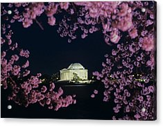 View Of The Jefferson Memorial Acrylic Print by Kenneth Garrett
