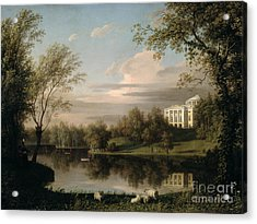 View Of The Pavlovsk Palace Acrylic Print by Carl Ferdinand von Kugelgen