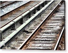 View Of The Railway Track  Acrylic Print by Lanjee Chee