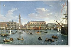 View Of Venice From The Island Of San Giorgio Acrylic Print by Gaspar van Wittel